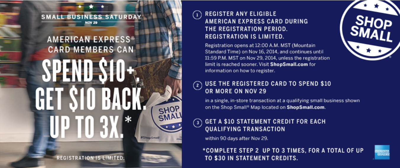 2014 Amex Small Business Saturday – Register Now